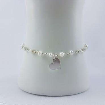 Bracelet Coeur et perles...