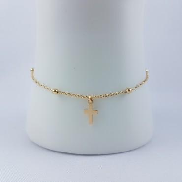 Bracelet croix Chaîne fine...