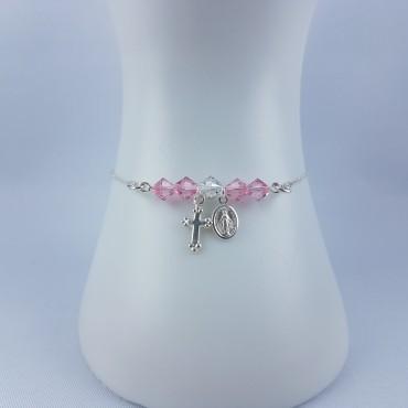 Bracelet Argent 925 croix +...