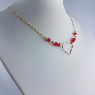 Collier coeur gold filled
